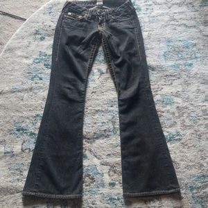 True Religion Embroidered Horseshoe Jeans 26